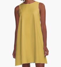Spicy Mustard | Pantone Fashion Color Fall : Winter 2016 | Solid Color A-Line Dress