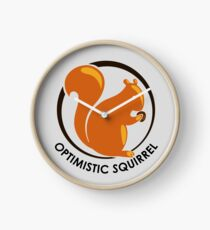 LIMITED EDITION: Original Brown Optimistic Squirrel Clock