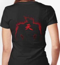 Aura Gouki kanji Ten Women's Fitted V-Neck T-Shirt