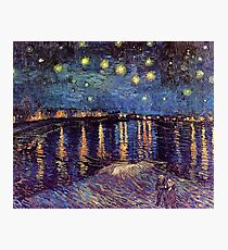 Starry Night over the Rhone, Vincent van Gogh. Photographic Print