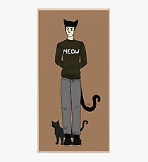 Cat, Spock Photographic Print