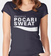 Pocari Sweat Japanese Logo Women's Fitted Scoop T-Shirt