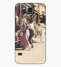 Mother helps her child off trolley in NYC — Colorized Case/Skin for Samsung Galaxy