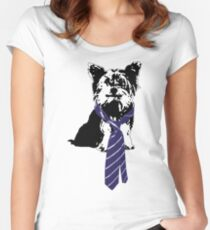 TGIF, Mr. Yorkie Women's Fitted Scoop T-Shirt