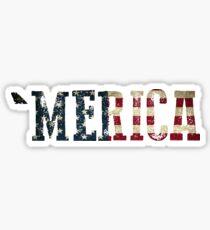 'Merica Text  Sticker