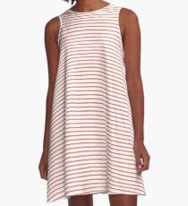 Peach Echo Stripes A-Line Dress