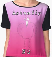 Actually No Bird  Chiffon Top