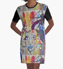 Graffiti Graphic T-Shirt Dress
