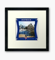 Australia - A Continent Down Under Framed Print