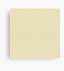 Spicy Mustard Stripes Canvas Print