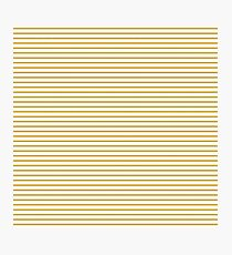 Spicy Mustard Stripes Photographic Print
