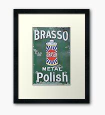 Brasso Metal Polish old signage Framed Print