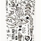 One Direction Tattoos iPhone Case by Tiffany Larson