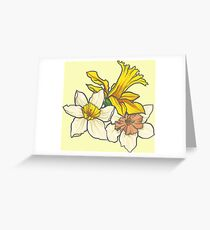 Daffodil - March Birth Flower Greeting Card