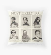 That 70s Show Most Likely To... Yearbook Quotes Throw Pillow