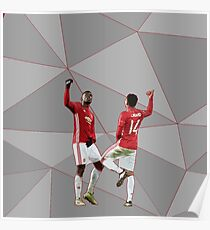 Pogba Lingard Dance Celebration Poster