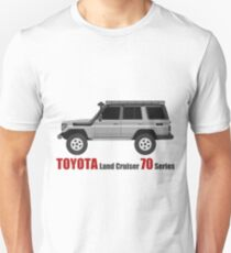 TOYOTA Land Cruiser 70 Series HZJ77 (side) (machito) T-Shirt