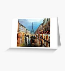 Rainy Paris Greeting Card