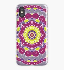 Violet mandala iPhone Case