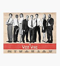 The West Wing Retro Poster Photographic Print