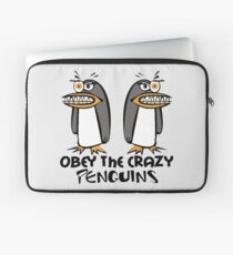 Obey The Crazy Penguins  Laptop Sleeve
