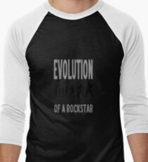 Evolution of a rockstar Men's Baseball ¾ T-Shirt
