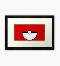 Pokemon - Pokeball RED White Framed Print