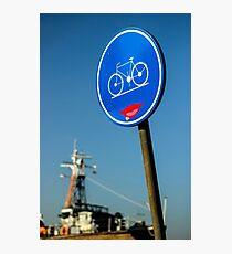 Kind Bicycle Path - Travel Photography Photographic Print