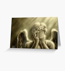 Peeping Angel Greeting Card