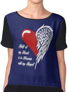 Half of my heart is in heaven with my angel T-shirt Chiffon Top