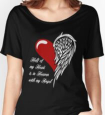 Half of my heart is in heaven with my angel T-shirt Women's Relaxed Fit T-Shirt