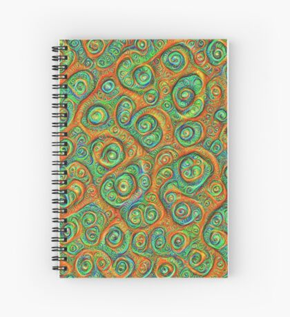 Green Red #DeepDream Spiral Notebook