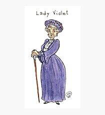 Lady Violet Photographic Print