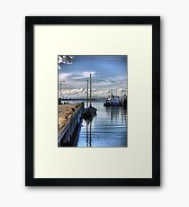 Reflections at Workman's Pier. Framed Print
