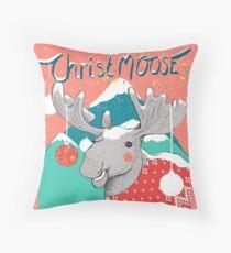 Merry ChristMOOSE Christmas gifts Throw Pillow