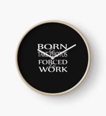 Tee - Born to take Photos (white text) Clock