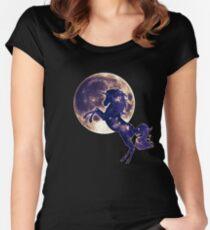 Space unicorn, moon, fullmoon, fantasy, magic, horse, fantastic, beast Women's Fitted Scoop T-Shirt
