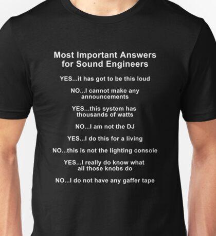 Sound Engineer's mantra ... white type T-Shirt