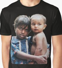 Girl and child in poverty Graphic T-Shirt