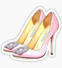 Pink High Heels shoes | Fashion Sticker