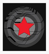 Red Star Shield Photographic Print