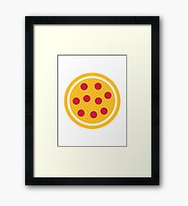 Pizza Salami Framed Print