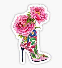 Pink Manolo Blahnik High Heels Boots Shoes | Fashion Sticker