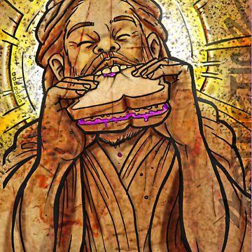 Jesus eating a PB & J sandwich!  by thalilarsenic