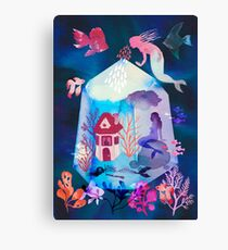 The house under the water Canvas Print