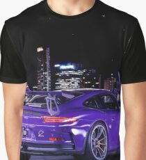 Porsche GT3RS - City Skyline Graphic T-Shirt