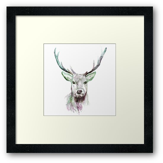 Beautiful winter reindeer painting reindeer by sarahmarsh1234