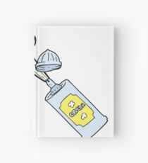 cartoon spraying whipped cream Notizbuch