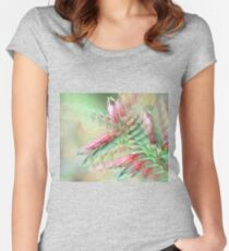 Flowers in abstract form Women's Fitted Scoop T-Shirt