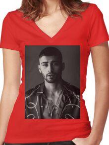ZAYN MALIK - BOOK Women's Fitted V-Neck T-Shirt